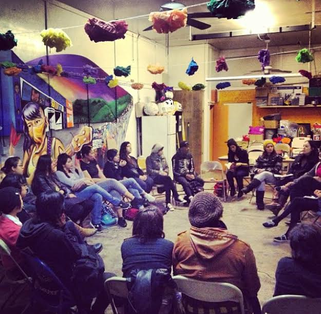Dialogue on the Zapatistas at the Eastside Cafe.